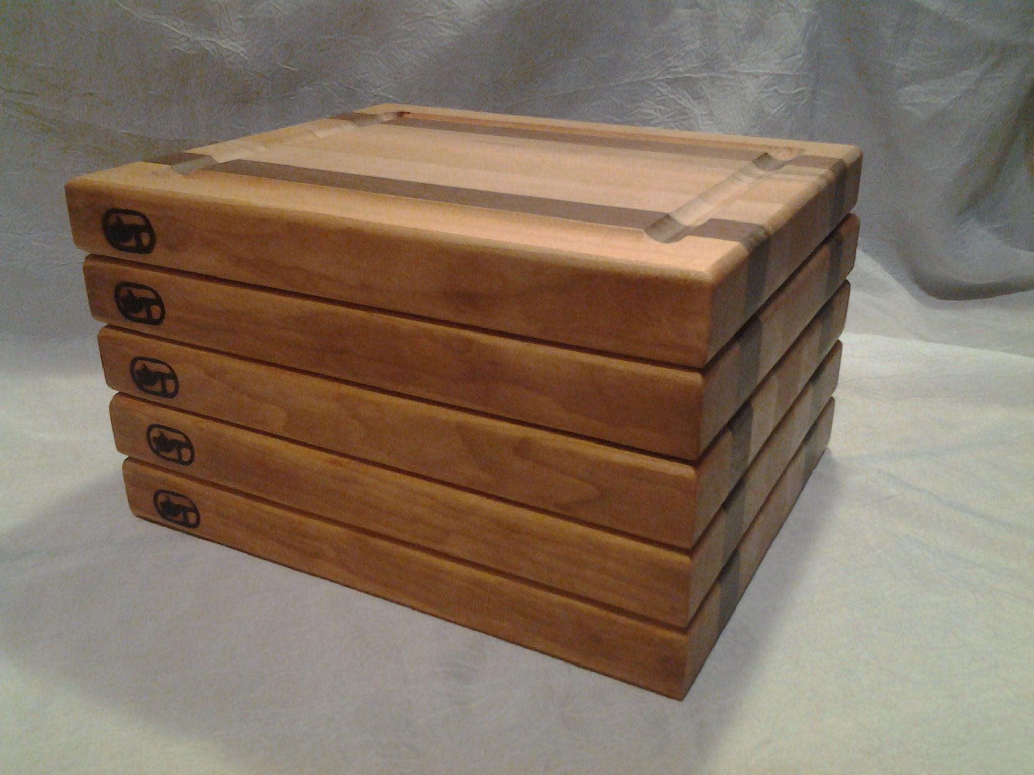 set of 5 edge grain cutting boards. Black Bedroom Furniture Sets. Home Design Ideas